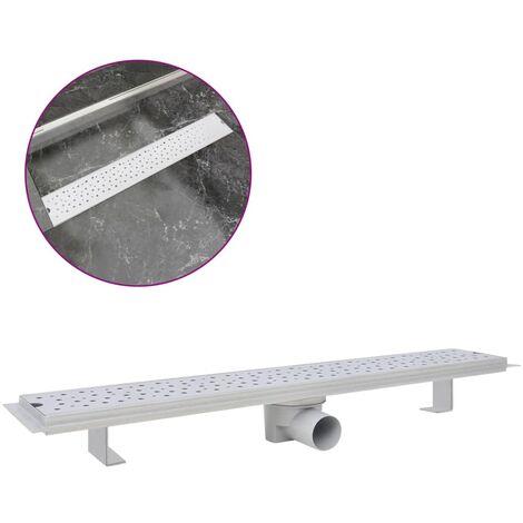 vidaXL Desagüe lineal de ducha Bubble acero inoxidable 730x140 mm