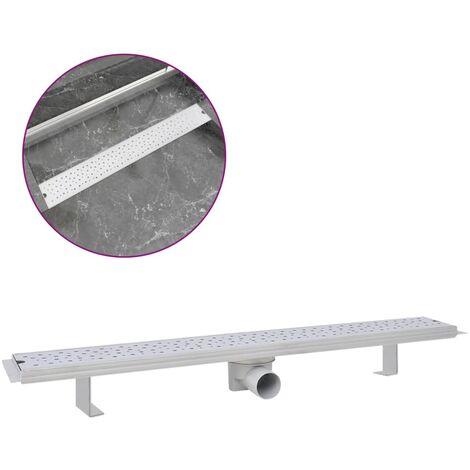 vidaXL Desagüe lineal de ducha burbuja 830x140 mm acero inoxidable