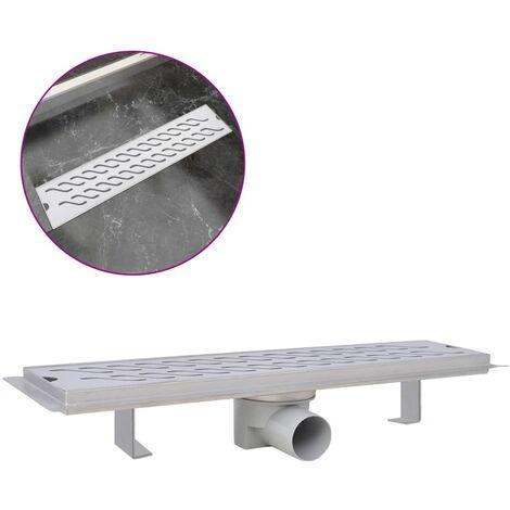 Desagüe lineal de ducha ondas 530x140 mm acero inoxidable