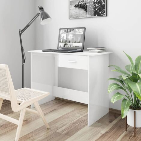 vidaXL Desk Home Bedroom Living Room Office Writing Study Student Table Computer Corner Desk Workstation Furniture Chipboard Multi Colours