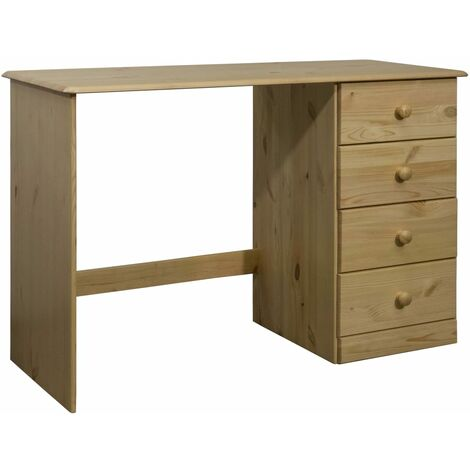 """main image of """"vidaXL Desk with 4 Drawers 110x50x74 cm Solid Pine Wood - Brown"""""""