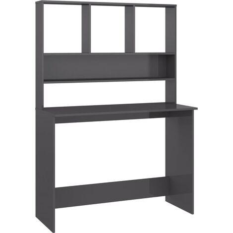vidaXL Desk with Shelves Home Office Living Room Bedroom Computer Workstation Corner Desk Storage Cabinet Bookcase Chipboard Multi Colours