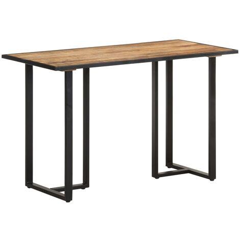 vidaXL Dining Table 120 cm Rough Mango Wood - Brown