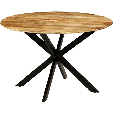 vidaXL Dining Table 120x77cm Kitchen Dinner Room Round Table Wooden Table Home Furniture Solid Sheesham Wood/Solid Rough Mango Wood