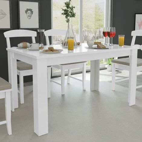 """main image of """"vidaXL Dining Table 140x80x75 cm Contemporary Dinner Breakfast Coffee Table Desk Home Decoration Kitchen Dining Room Furniture Oak/White"""""""