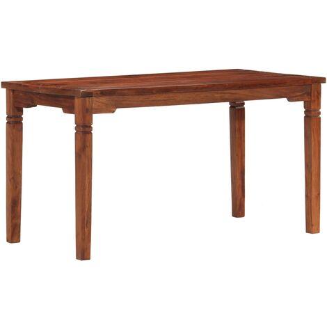 vidaXL Dining Table 160x80x76 cm Solid Acacia Wood - Brown