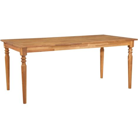 vidaXL Dining Table 170x90x75 cm Solid Acacia Wood - Brown