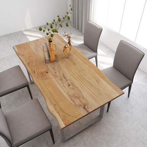 vidaXL Dining Table 180x90x76 cm Solid Acacia Wood - Brown