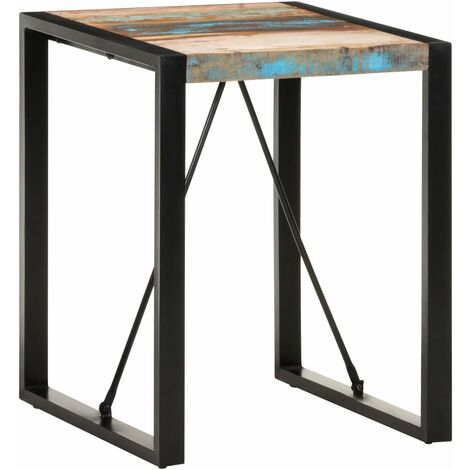 vidaXL Dining Table 60x60x75 cm Solid Reclaimed Wood - Black