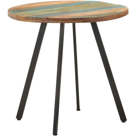 vidaXL Dining Table 80 cm Solid Reclaimed Wood - Multicolour