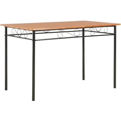 vidaXL Dining Table Brown 120x70x75 cm MDF - Brown