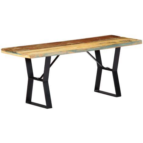 vidaXL Dining Table Kitchen Dinner Living Room Furniture Computer Study Desk Workstation Stand Wooden Dinette Solid Reclaimed Wood Multi Sizes