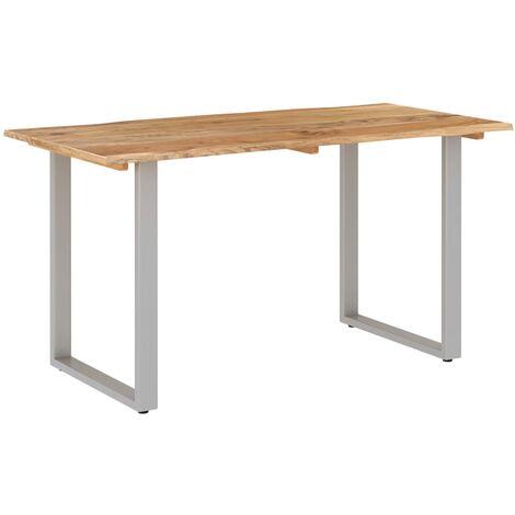 vidaXL Dining Table Solid Acacia Wood 140x70x76 cm - Brown