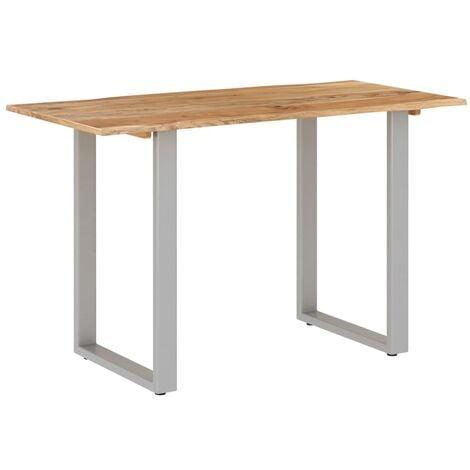 vidaXL Dining Table Solid Acacia Wood 180x90x76 cm - Brown