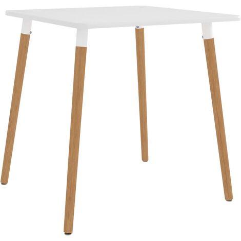 vidaXL Dining Table White 80x80x75 cm Metal - White