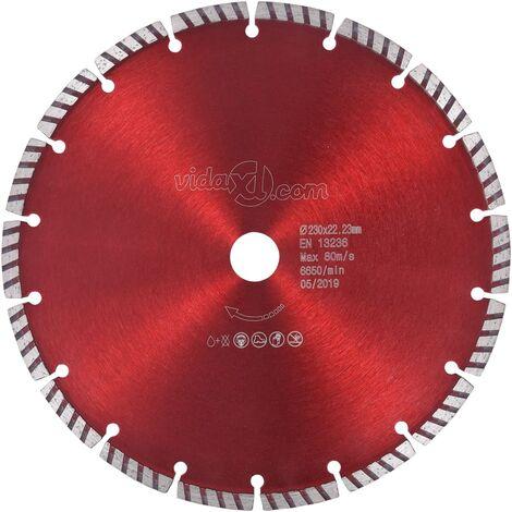 vidaXL Disco de Corte de Diamante con Turbo Acero 350 mm 22,23 mm