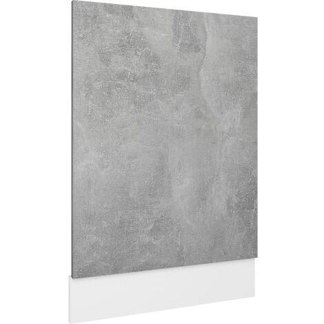 "main image of ""vidaXL Dishwasher Panel Concrete Grey 45x3x67 cm Chipboard - Grey"""