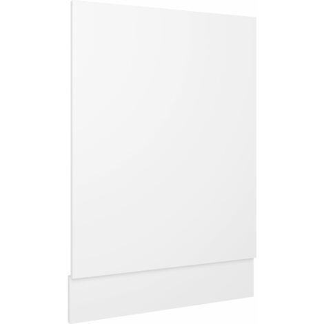 "main image of ""vidaXL Dishwasher Panel White 45x3x67 cm Chipboard - White"""