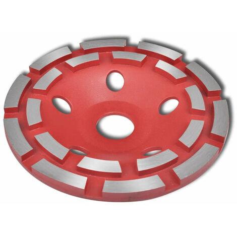 vidaXL Disque de broyage diamante a double ligne 125 mm