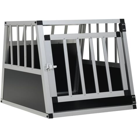 vidaXL Dog Cage with Single Door 54x69x50 cm - Silver