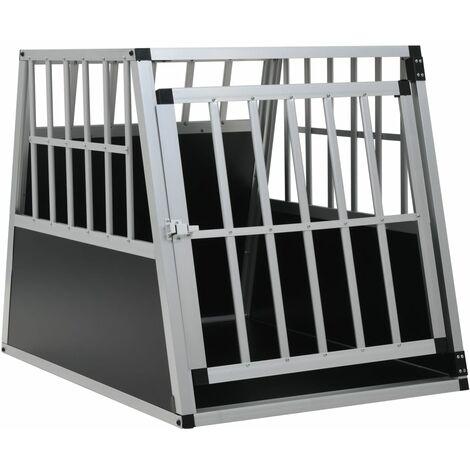 vidaXL Dog Cage with Single Door 65x91x69.5 cm - Silver