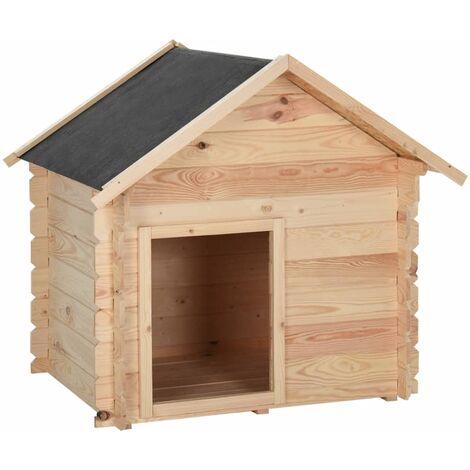 vidaXL Dog House 100x80x100 cm Solid Pine Wood