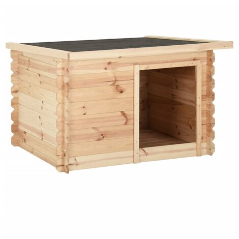 vidaXL Dog House 120x100x80 cm Solid Pine Wood