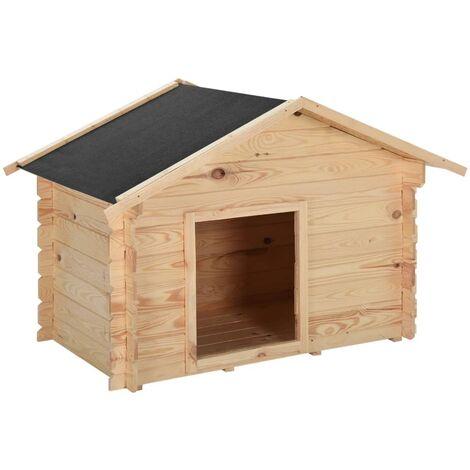 vidaXL Dog House 125x80x100 cm Solid Pine Wood