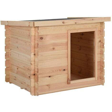 "main image of ""vidaXL Dog House 80x80x100 cm Solid Pine Wood 14 mm"""