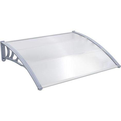 vidaXL Door Canopy PC Grey 120x100 cm - Grey