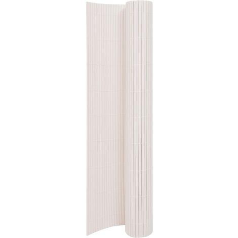 vidaXL Double-Sided Garden Fence 170x500 cm White - White