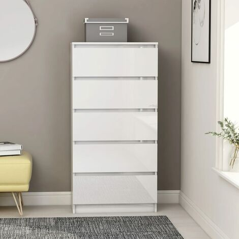 vidaXL Drawer Sideboard Home Living Room Bedroom Office Storage Side Cabinet Shelf Stand Cupboard Furniture Chipboard Multi Colours