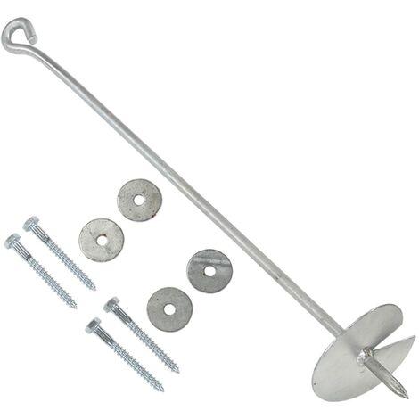 vidaXL Earth Anchors 6 pcs 10x60 cm Galvanised Metal
