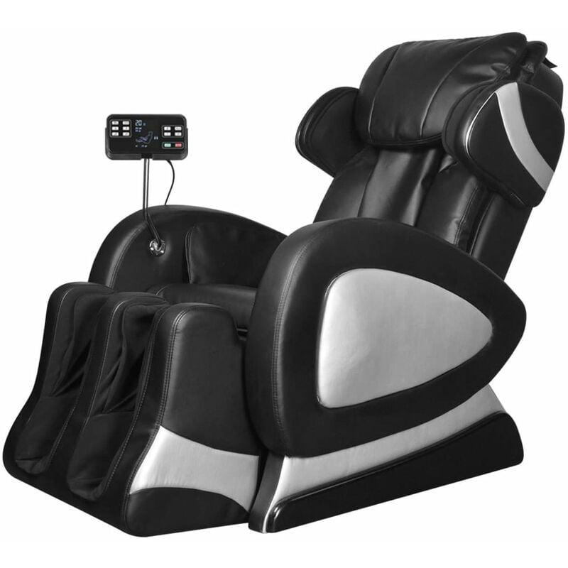 Massagesessel mit Super Display Schwarz Kunstleder - VIDAXL