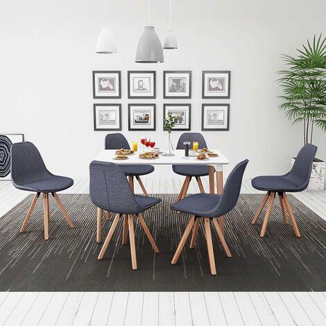 vidaXL Ensemble de Table et Chaises de Salle à Manger Mobilier à Dîner Mobilier de Repas Cuisine Intérieur Maison Multicolore 5/7 pcs