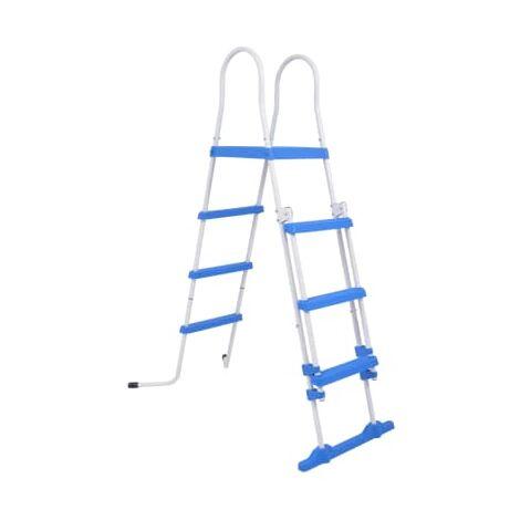 vidaXL Escalera de seguridad de piscina elevada 3 peldanos 122 cm