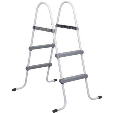 vidaXL Escalera para piscina de acero 86,5 cm