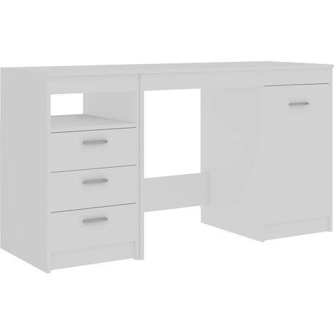 vidaXL Escritorio Mueble Mesa de Estudio Trabajar Soporte Ordenador Cajones Oficina Interior Hogar Casa Salón Dormitorio de Aglomerado Multicolor