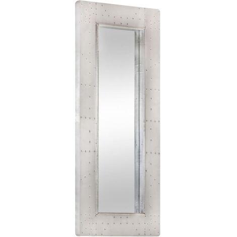 vidaXL Espejo aviador de metal 110x50 cm - Plateado