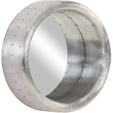 vidaXL Espejo aviador de metal 48 cm - Plateado