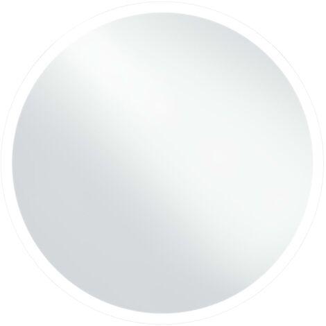 vidaXL Espejo de baño con LED 80 cm - Plateado