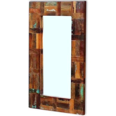 VidaXL Espejo de madera maciza reciclada 80x50 cm