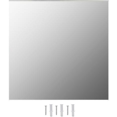 vidaXL Espejo de pared cuadrado vidrio 60x60 cm - Plateado