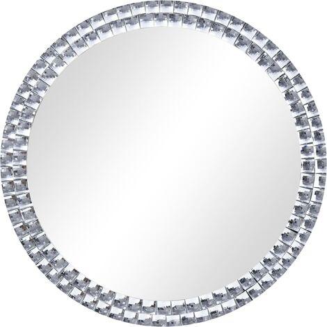 "main image of ""vidaXL Espejo de pared de vidrio templado 60 cm - Plateado"""