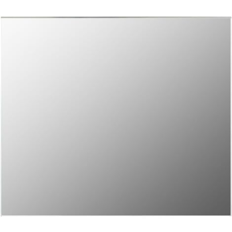 vidaXL Espejo sin marco vidrio 70x50 cm - Plateado