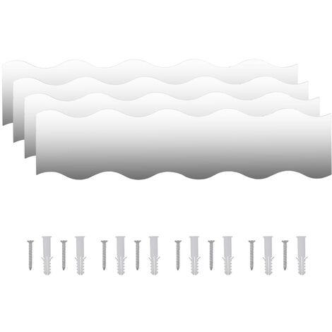 vidaXl Espejos de pared vidrio ondulado 110x23 cm 4 unidades