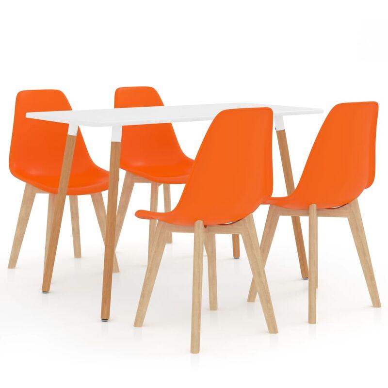 Essgruppe 5-tlg. Orange Modell 1