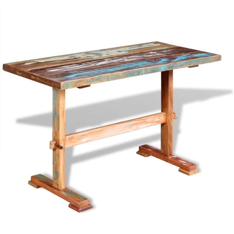 Esstisch mit Holz-Untergestell Recyceltes Massivholz 120 x 58 x 78 cm - VIDAXL