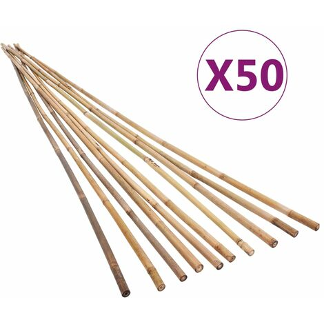 """main image of """"vidaXL Estacas de bambú para jardín 50 piezas 120 cm - Marrón"""""""