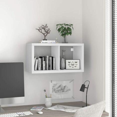 vidaXL Estante de pared cube blanco MDF 69,5x29,5x37 cm - Blanco